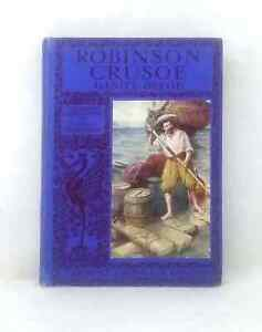 Robinson-Crusoe-by-Daniel-Defoe-colour-plate-illustrations-vintage-hardback-1930