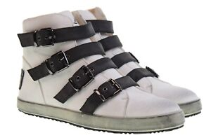 FRANCESCO-MILANO-sneakers-alte-fibbia-e-cerniera-laterale-E365C-grigio-n-40