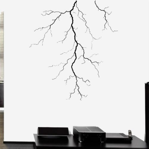 Lightning Vinyl Decal Wall Sticker Storm Bedroom Exotic Decor Thunder