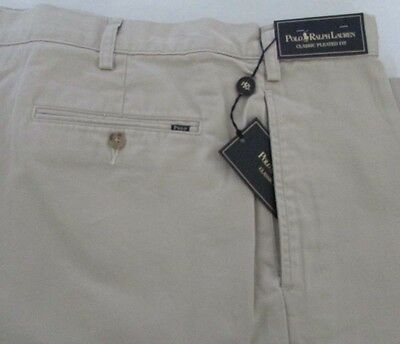NWT Polo Ralph Lauren Casual Shorts Pleated Front Light Beige * Assorted Sizes