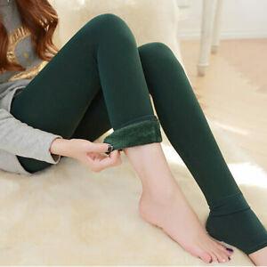 Détails sur Femme Velours Collant legging Stretch Elastique Polaire Lustre Pantalons Chaud