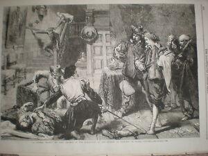 A-Tavern-Brawl-from-John-Gilbert-1864-old-print