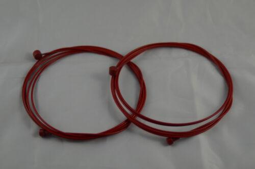 U.Z BIKE ALLIGATOR PTFE Coated Brake Inner Cable for MTB//Road 2 pcs-Red