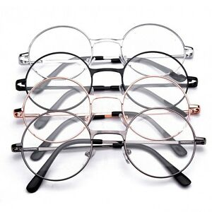 64a1a5d6eedc Image is loading Metal-Frame-Flat-Mirror-Eyeglass-Unisex-Retro-Round-