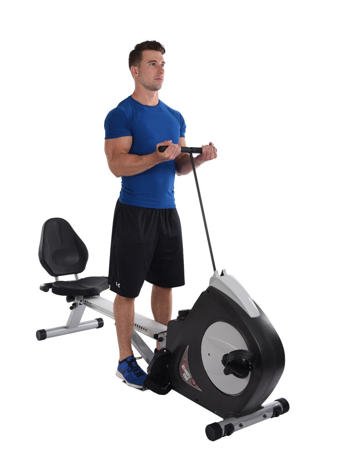 recumbent exercise bike and rowing machine