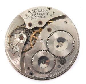 1921-WALTHAM-12S-15J-POCKET-WATCH-MOVEMENT-amp-DIAL