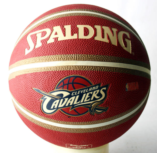 9f5209ca2200a RARE 2010 SPALDING CAVALIERS LEBRON JAMES OUTDOOR BASKETBALL BALL SIZE 7  NEW !