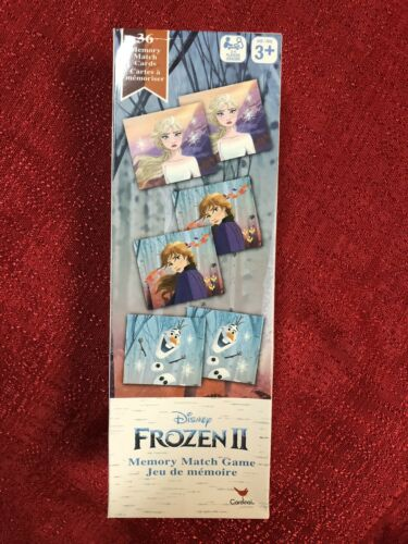 2-4 Players Game Night Fun NEW Frozen II Memory Match Card Game Set 36 pc Age 3