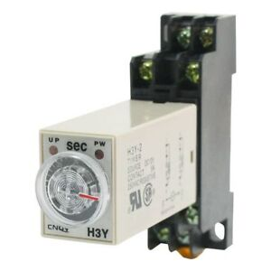 H3Y-2-DC-24V-Delay-Timer-Time-Relay-0-60-Seconds-with-Base