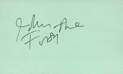 Entertainment Memorabilia John Forsythe Actor 1975 $10000 Pyramid Tv Movie Autographed Signed Index Card