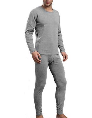 Womens 2pc Microfiber Thermal Underwear Set Long Johns Top /& Bottom Light Gray M