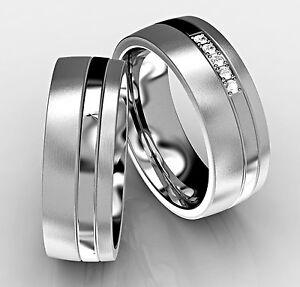 2-Edelstahl-Verlobungsringe-Partnerringe-Trauringe-Freundschaftsringe-Eheringe