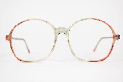 Abile Vintage Conaussador A 102 71p 54 [] 19 140 Arancione Trasparente Ovale Occhiali Nos-