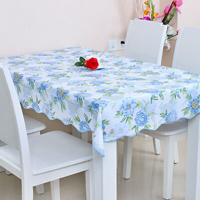 Flannel-Backed Wipe Clean PVC Vinyl Tablecloth Dining Kitchen Table Cover Sizes