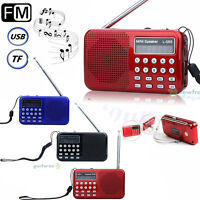 Portable Mini Speaker LCD Music MP3 Player SD/TF USB Disk FM Radio Rechargeable