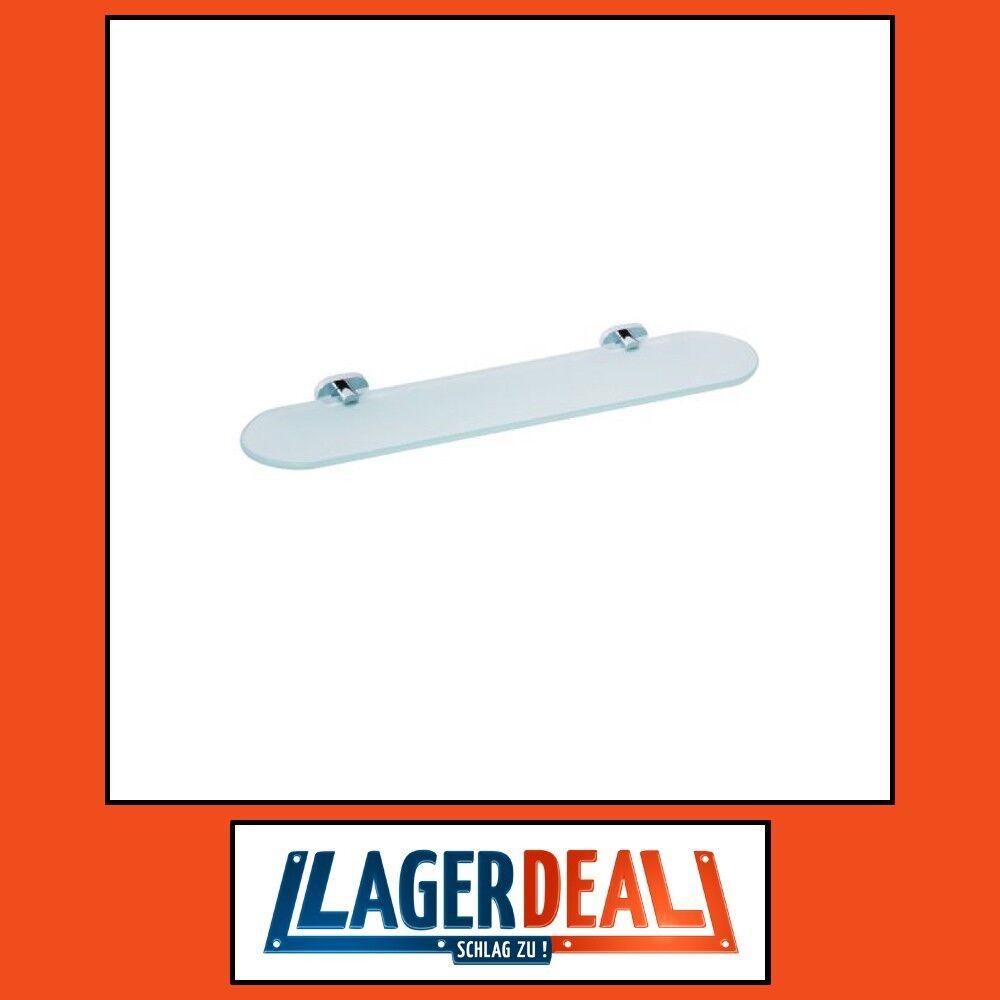 Glasablage 520x30x145mm Messing   Milchglas Chrom Badartikel Zubehör Lagerdeal     | Luxus