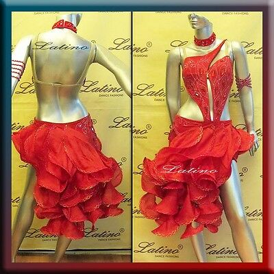 LATIN RHYTHM SALSA BALLROOM COMPETITION DANCE DRESS - SIZE S, M, L (LT500A)