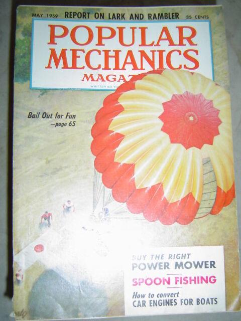 Popular Mechanics - May 1959 - LARK & RAMBLER - BAILOUT