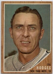 1962-Topps-85-Gil-Hodges-VG-VGEX-Corner-Crease-New-York-Mets-FREE-SHIPPING