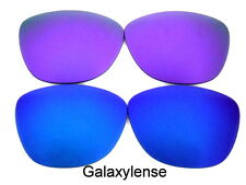 Galaxy Replacement Lenses For Oakley Frogskins Blu&Purple Color Polarized 2Pair
