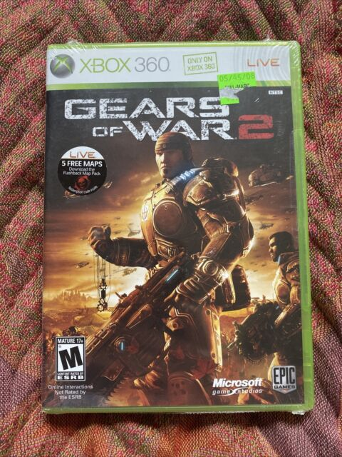Microsoft XBOX 360 Gears of War 2 Epic Games Rated M - NEW w/Hype Sticker fr/shp