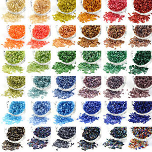 1200pcs-50g-Czech-Glass-Seed-Beads-Tube-Smooth-Two-Cut-Bugle-Tiny-Spacer-5x1-8mm