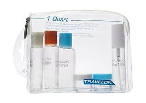 Image Is Loading Travelon 1 Quart Zip Top Bag With Bottles