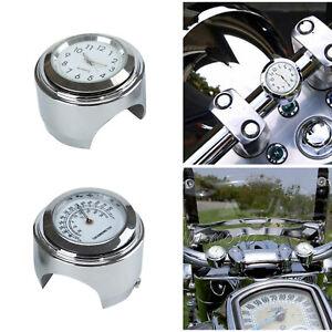 7/8 1'' Motorraduhr Uhren für Motorrad Motorräde Lenkeruhr wasserdicht Universal