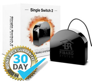 Details about Fibaro Single Relay Switch 2 2 5 KW FGS213 Z-Wave Alexa  Smartthings Google Home
