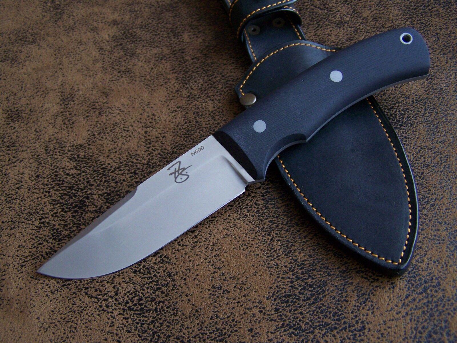 Arthur brehms woodcrafter esclusivo SEMI CUSTOM Outdoor Coltello da caccia n690 g10