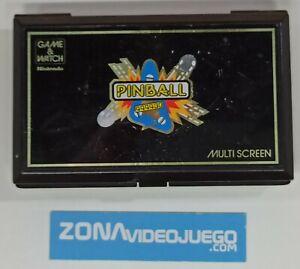 Juego electronico LCD, Game & Watch Pinball PB-59, Nintendo.