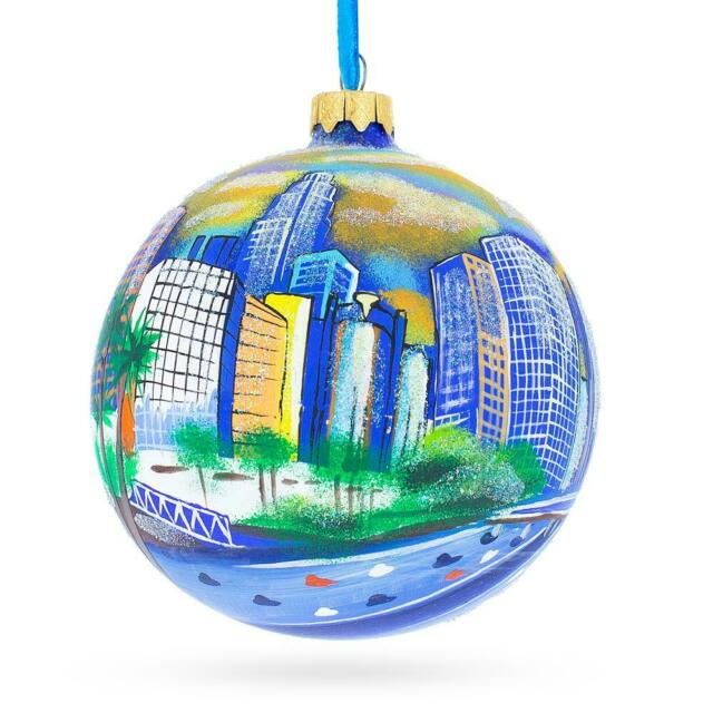 I Love Los Angeles, California Glass Ball Christmas ...