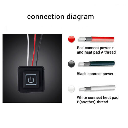 5V-15V 3 Gear Temp Control Waterproof Heating Switch Clothes Silicone Button SPU