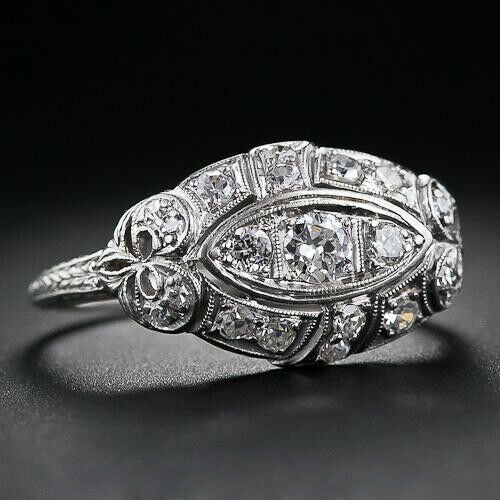 925 Silver 18K Yellow Gold Plated White Topaz Ring Wedding Party Jewelry Sz5-10