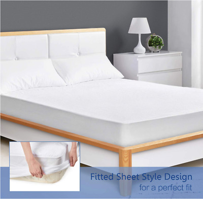 All Size 1-4PCS Waterproof Matress Mattress Protector Fitted Bed Cover Sheet