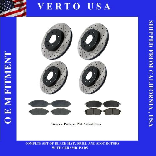 to 2018 Front /& Rear Brake Rotors /& Pads For Nissan Maxima 2009-2010-2011-2012