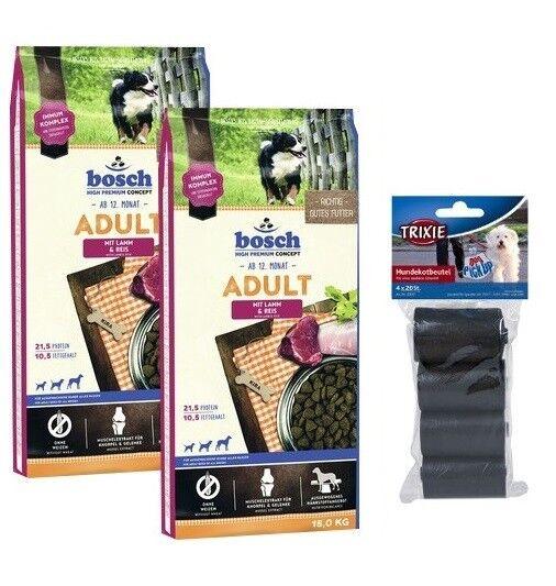 2x15kg BOSCH Adult Agnello & Riso cibo per cani    80 PZ. kotbeutel 3031f3