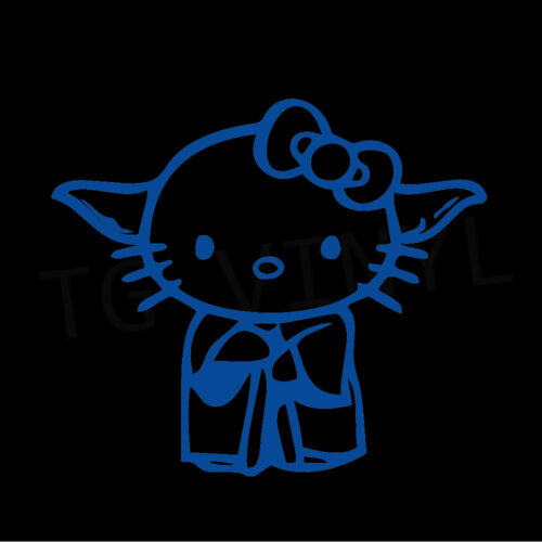 "5/"" HELLO KITTY YODA Vinyl Decal Sticker Car Window Laptop Star Wars Vader R2D2"