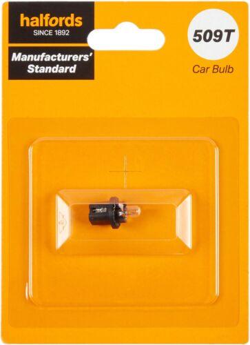 509T 12V Car Panel Board Bulb Manufacturers Standard Halfords Single Pack Light