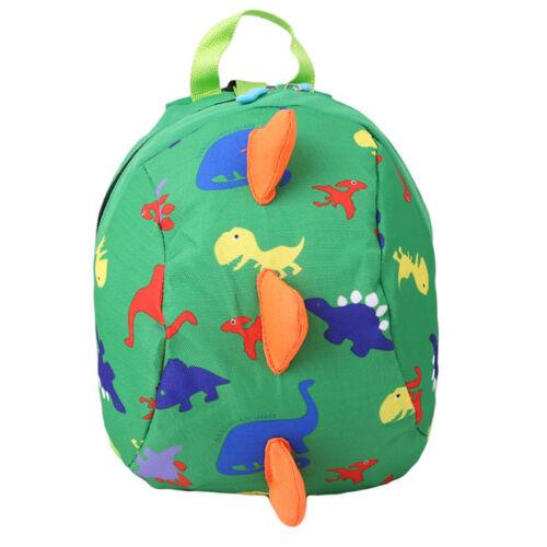 Lovely Kids Cartoon Schoolbag Backpack Bag for Baby Child Dinosaur Harness New
