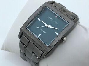 Structure-Men-Watch-Black-Tone-Japan-Movement-Analog-Wrist-Watch