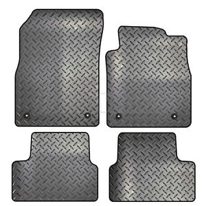 TAILORED CAR FLOOR MATS IN BLACK /& CLIPS 4 PCE SET 2010-2015 VAUXHALL ASTRA