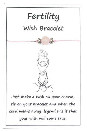 W011 Fertility Wish String Bracelet or Anklet Rose Quartz Gemstone