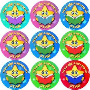 144-sei-una-lettura-STAR-30mm-Adesivi-Ricompensa-Insegnanti-genitori-Nursery