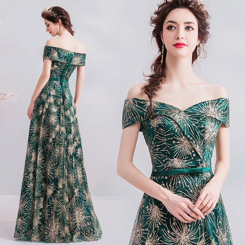 Nobel De Soirée formelle Parti robe de bal bal demoiselle d'honneur Paillettes hôte Robe tsjy 1106