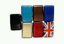 60pcs Aluminium Metal Wallet ID Credit Business Card Purse Case Pocket Holder UK