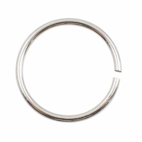 Surgical Steel Thin Small Silver Nose Ring Hoop 0.8mm Cartilage Piercing Stud