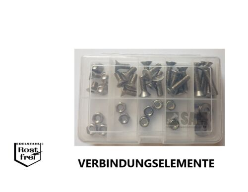 "UNC EDELSTAHL Zollschrauben Set//Sortiment 45 Teile DIN 7991 Senkkopf 5//16/"" A2"