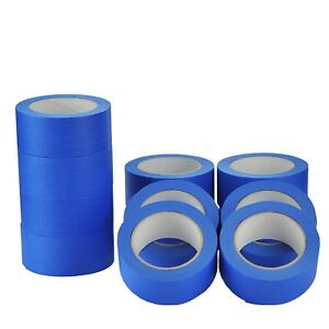 15 Rolls-UV-Resistant-Blue-Painters-Clean-Peel-Masking*Tape-50mm-x 50m