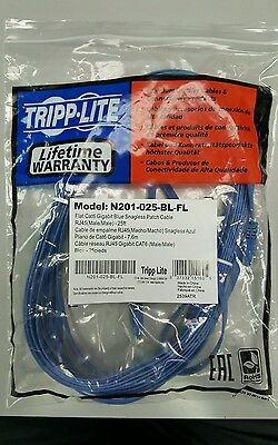 Buy Cheap Tripp Lite 25ft Flat Cat6 Gigabit Snag Less Blue Patch Cord Cable N201-025-bl-fl A Complete Range Of Specifications Computers/tablets & Networking